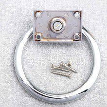 Round shiny silver bigger drop rings door knocker Square chrome wooden chair sofas handles pulls knobs modern furniture handles