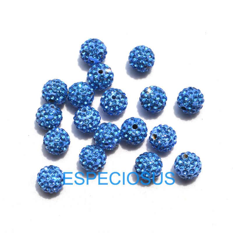 10PCS DIY תכשיטים אבזר אוסטריה ריינסטון עגול חרוזים 10MM קריסטל כדורי צמיד ביצוע ממצאי לערבב צבע