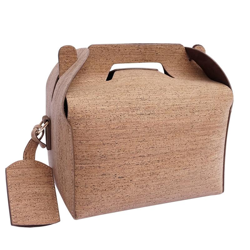 KAOGE Vegan Luxury Lunch Bag Handmade Natural Cork baobao Vintage Handbags Cake Crossbody Bag waterproof Shoulder Bags стоимость