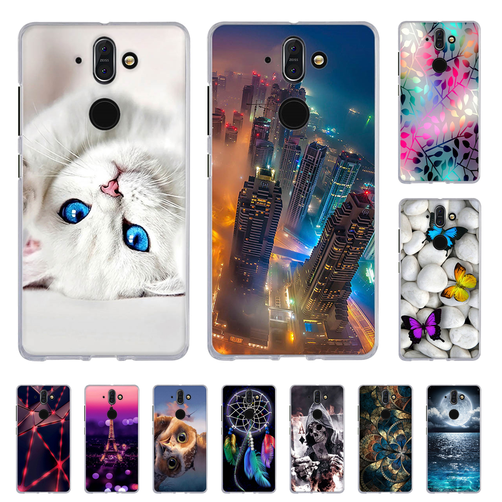Soft TPU Cover For Nokia 8 Sirocco Back Protection Phone Case For Nokia 8 Sirocco Painted Silicone Cases For Nokia 8 Sirocco Bag