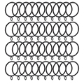 TOP! 40 Pack Curtain Rings  38mm Internal Diameter Curtains Rings Hanging Rings for Curtains and Rods  black|Hooks & Rails| |  -