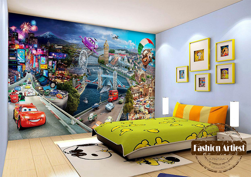 Background 3 picture more detailed picture about custom for Cars wallpaper mural
