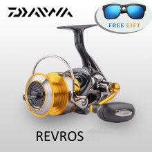 Original Daiwa Spinning Fishing Reel REVROS A series 5 Ball Bearing Saltwater Freshwater Carp Feeder Wheel with Air Rotor