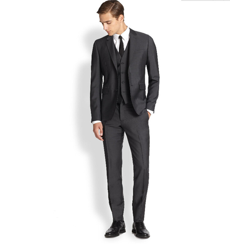 Gentleman Fashion Tuxedos Groom Suits Wedding Party Four