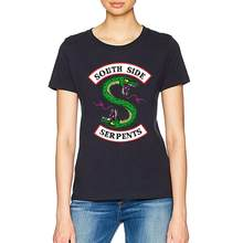 Riverdale T shirt Women Summer Tops SouthSide Serpents Jughead Female TShirt Clothing Riverdale South Side t-shirt(China)