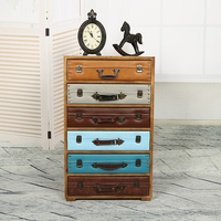 Европейский и американский стиль ретро деревенский дерево выдвижной ящик для шкафа хранения шкафчики сделать старый Классическая Multi ковш