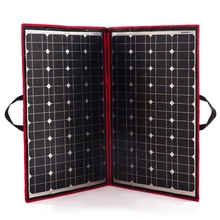 Dokio 100W Solar Panel 12V/18V Flexible Foldble Solar Panel usb 110(55W*2) Portable Solar Cell Kit For Boats/Out-door Camping RU