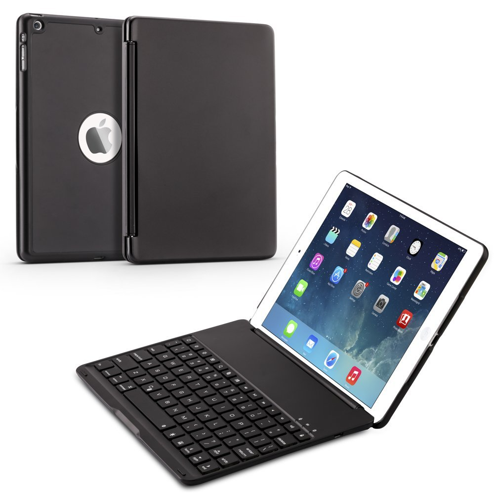 7 Colors Backlit Light Wireless Bluetooth Keyboard Case Cover for iPad air ipad 5 A1474,A1475,A1476 Case for iPad 9.7 inch 2017 aluminum keyboard cover case with 7 colors backlight backlit wireless bluetooth keyboard