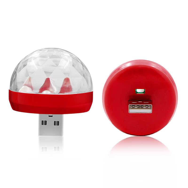 Автомобильный Стайлинг светодиодный USB атмосферный свет DJ RGB мини красочная музыкальная лампа для USB-C телефон поверхность матч автомобильные аксессуары