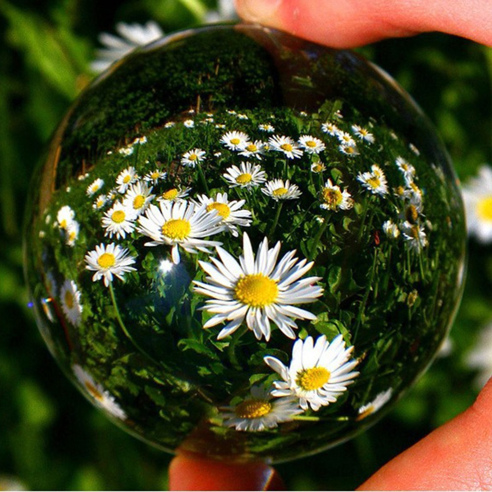 40-100mm Photograph Crystal Ball Quartz FengShui Ornament Natural Glass Crystals Craft Travel Take Pictures Home Decorative Ball