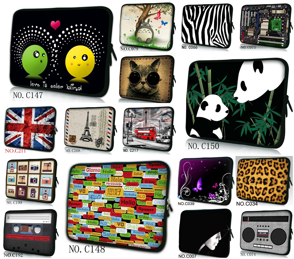 Laptop Sleeve Cases 7.7 10.1 11.6 12.1 13.3 15.6 Computer Carry Bag Bolsa Tablet Briefcase For 7 10 12 13 14 15 17 Inch