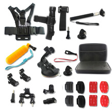 Sport Camera Accessories kit Head Chest Mount Floating Monopod For GoPro 1 2 3 4 Camera SJ4000/5000 Xiaomi Yi