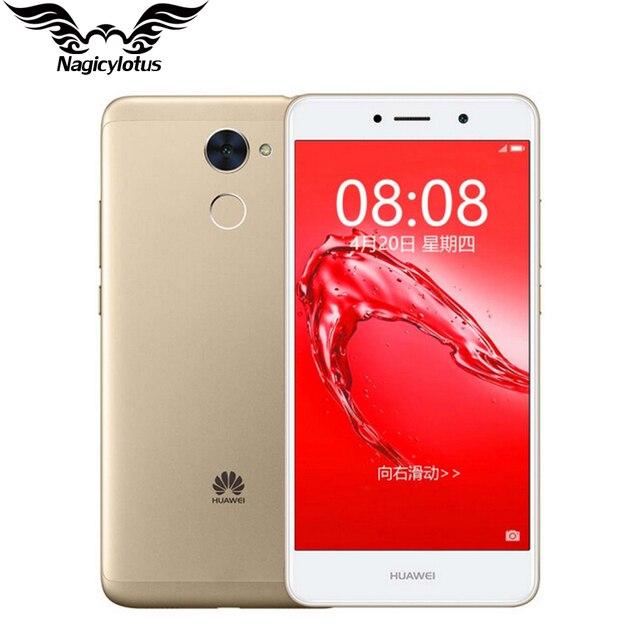 Оригинальный Huawei наслаждаться 7 плюс 4 г LTE мобильный телефон MSM8940 Octa Core 5.5 дюймов Android 7.0 4000 мАч 8.0MP 13.0MP отпечатков пальцев ID