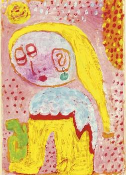 High quality Oil painting Canvas Reproductions Magdalena before the conversion (1938)  by Paul Klee  Painting hand painted