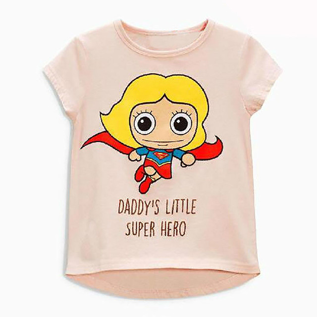 80470ebe Cartoon superhero Baby kids girl Cotton Summer T shirts toddler girls tops  children child clothes casual Clothing bebes infantil