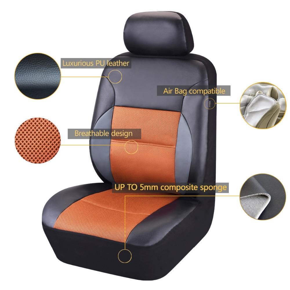 Car-pass Couverture de siège de voiture Universel en cuir PU Avant 2 - Accessoires intérieurs de voiture - Photo 6