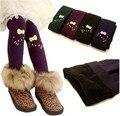 2017 Meninas de Inverno Leggings de Impressão KT Gato De Lã Grossa Crianças calças de Cintura Alta Elástico Leggings Crianças Meninas Botas de Neve Desgaste calças