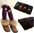 2017 Winter Girls Leggings Print KT Cat Thick Fleece Children Pants Elastic High Waist Kids Leggings Girls Snow Wear Boots Pants