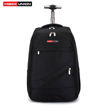MAGIC UNION Men's Travel Bag Man Backpack Polyester Bags Waterproof Computer Packsack Brand Design Backpacks Trolley backpack(China)