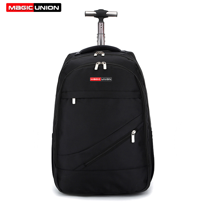 ผู้ชาย MAGIC UNION กระเป๋าเดินทางกระเป๋าเป้สะพายหลังกระเป๋าเป้สะพายหลังขนาดใหญ่ Rolling กันน้ำโรงเรียนกระเป๋าหนังสือ Daypack กระเป๋าเดินทางกระเป๋าเดินทาง-ใน กระเป๋าเดินทาง จาก สัมภาระและกระเป๋า บน   1