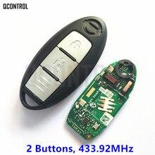 QCONTROL مفتاح السيارة الذكي عن بعد يصلح لنيسان قاشقاي X Trail دخول بدون مفتاح تحكم عن بولسار مستمر 433.92MHz
