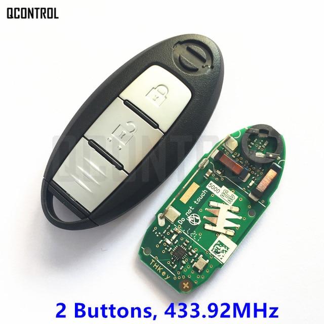 QCONTROL clé télécommande intelligente compatible avec NISSAN Qashqai, x trail, contrôleur dentrée sans clé, 433.92MHz