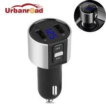 Fishberg громкой связи USB Беспроводной автомобиля Mp3 Fm передатчик Bluetooth модулятор Автомобильный комплект с двойной USB Порты и разъёмы для телефона fm-модулятор