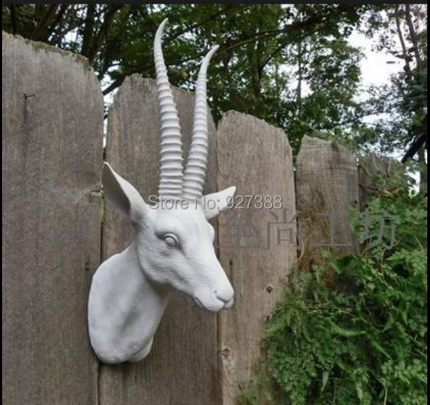 Foreign Trade Resin Antelope Head Wall Murals Soft Background Mounted Animal Hanging Decorations