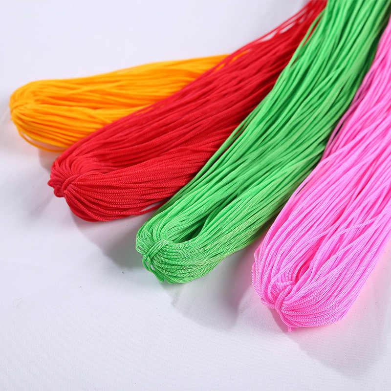 40-50 M 強力な編組マクラメシルクサテンナイロンコードロープ DIY ジュエリー所見を作るビーズ糸ワイヤー 1 ミリメートル