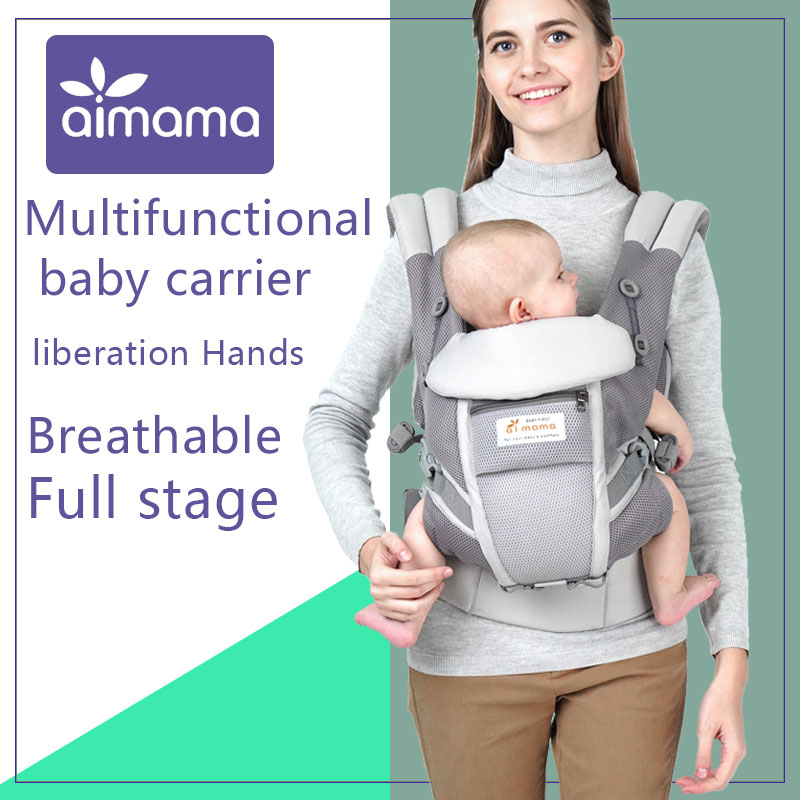 Portable Baby Sling Wrap Ergonomic Baby Carrier Backpack Cotton Infant Newborn