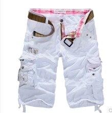 2017 neue mode lässige herren shorts hochwertigen casual mens cargo shorts 9 farben khaki armee grün Military Shorts big size 38