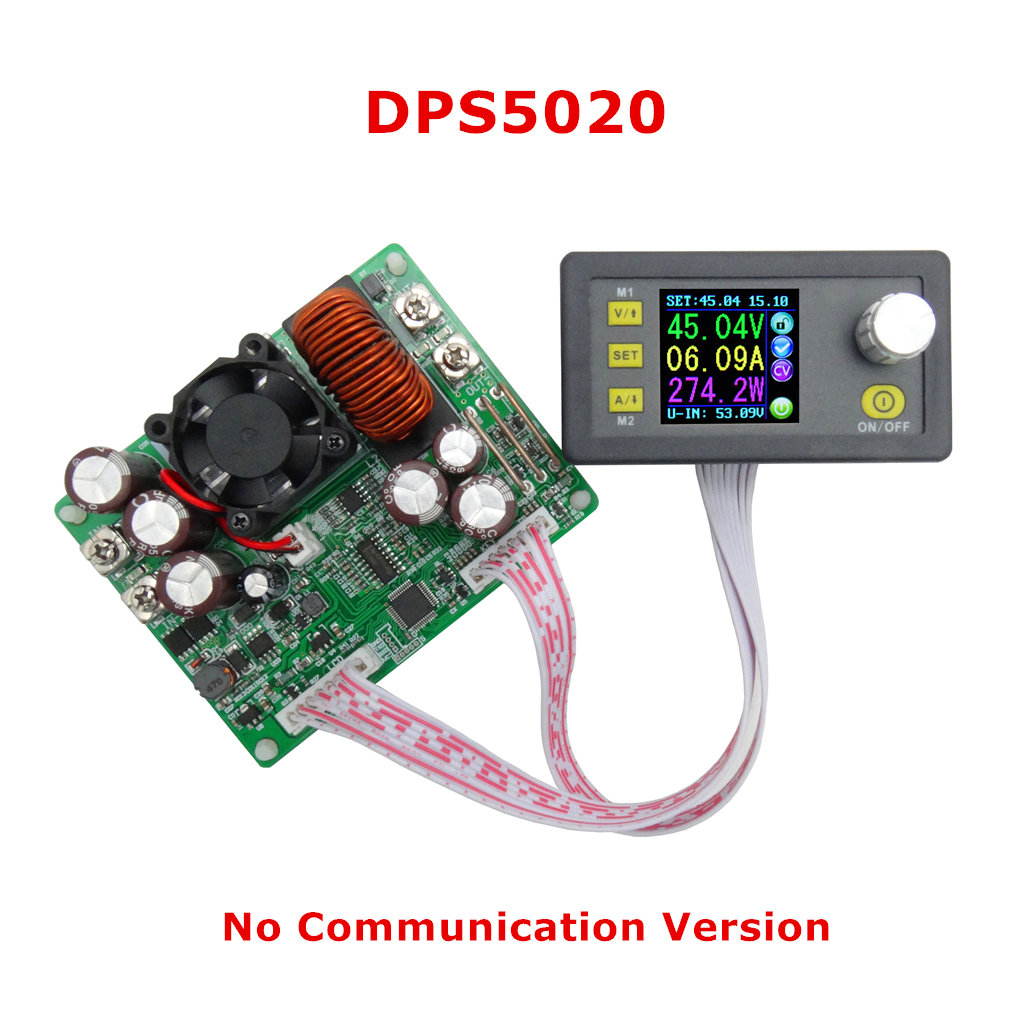 DPS5020 50V 20A Constant Voltage Current Step-down Digital Power Supply Buck Voltage Converter LCD Voltmeter bosi bs e313b pvc pipe cutter yellow silver
