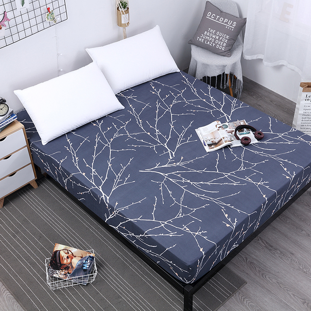 Mecerock Luxury Ed Sheet Polyester Printing Bed With Elastic Rubber Band Linens Deep Pocket For