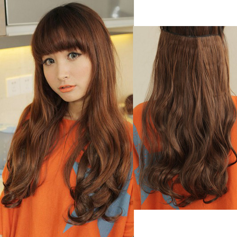 New Wholesale Women Korea Big Wave Long Curly Hair Extensions