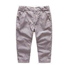 12 M à 5 T bébé et enfants garçons vertical rayé 100% coton casual pantalons enfants garçon printemps automne mode pantalons vêtements