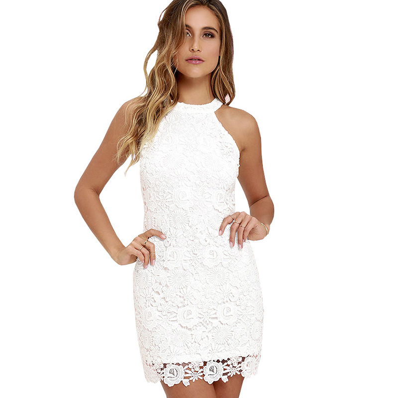 Berydress Womens Elegant Wedding Party Y Night Club Halter Neck Sleeveless Sheath Bodycon Lace Dress Short In Dresses From Women S Clothing Accessories