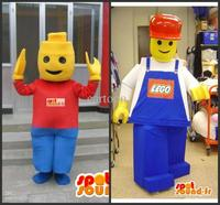 customized 2 lego Mascot Costume Adult Cartoon Character Costumes mascot costume Fancy Dress Party Suit