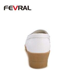 Image 3 - FEVRAL Plus di Dimensione Donna Scarpe In Morbida Pelle di Moda Donna Appartamenti Slip On Scarpe Donna Estate Casual Comfort Mocassini Scarpe Femminili