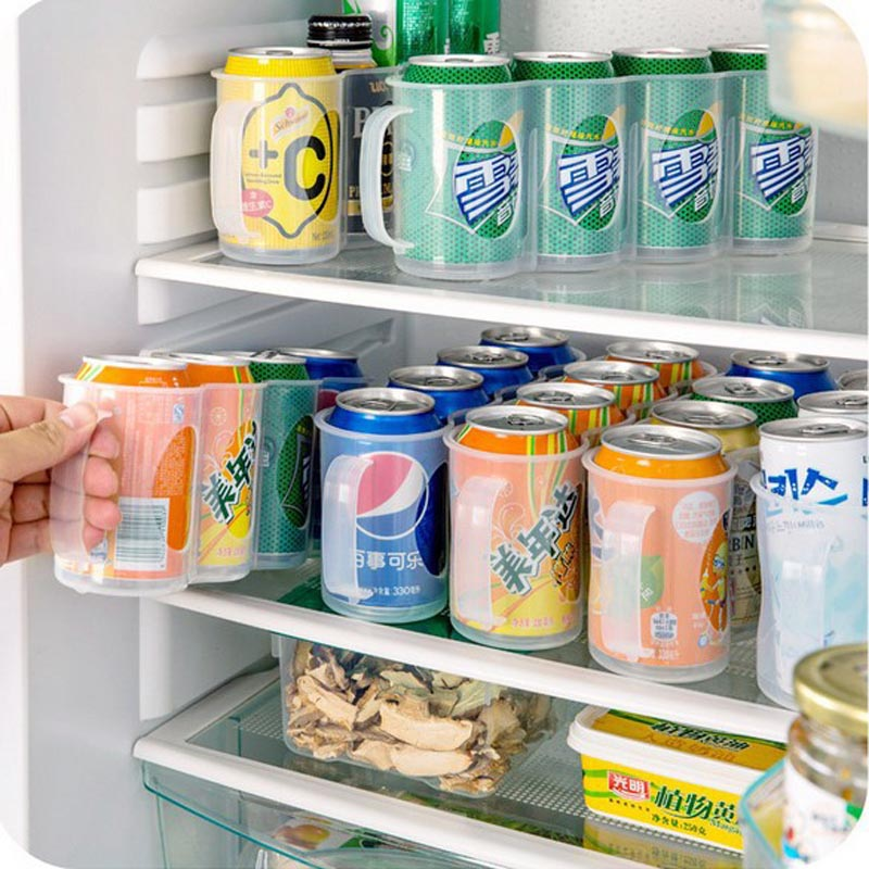 4-Girds-Fridge-Cans-Beverage-Storage-Box-Beer-Soda-Drink-Bottle-Holder-Refrigeration-Organizer-Rack-Finishing