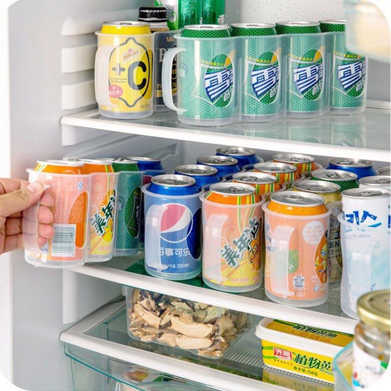 4-Girds-Fridge-Cans-Beverage-Storage-Box-Beer-Soda-Drink-Bottle-Holder-Refrigeration-Organizer-Rack-Finishing
