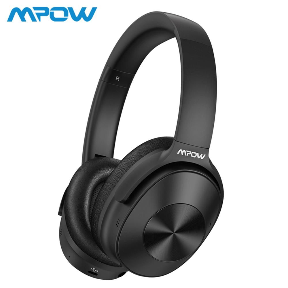 Mpow H12 Hybrid Active Noise Cancelling Bluetooth Headphones 30H Playing Time 40mm Driver Wireless Wired 2