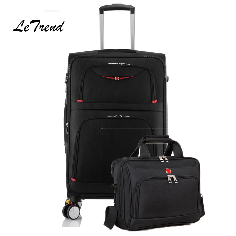 letrend business skateboard rolling luggage spinner students oxford trolley suitcases wheel travel bags laptop bag Letrend Rolling Luggage Set Spinner Multifunction Trolley Suitcases Wheel Travel Duffle Business Laptop bag Handbag Password box