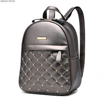 Female Backpack 2017 Fashion Leisure High Quality Deads Bag Shoulder Bag Female PU Backpack Backpack