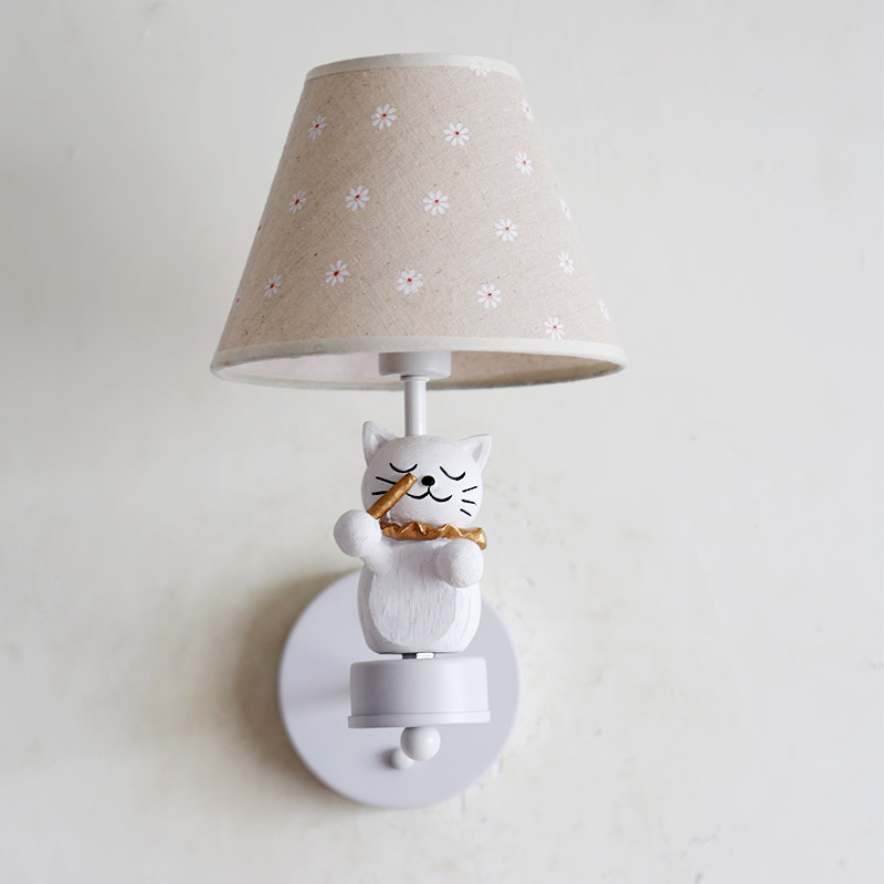 Nordic Children Bedroom Wall Lamps Led Cat Symphony Wall Lights Boy Girl Room Decoration Lamp Christmas Present Birthday Present - 5