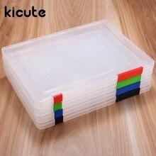 Kicute, современный, A4, прозрачный файл, прозрачный, прозрачный, пластиковый, для документов, чехол, Настольная бумага, органайзеры, держатели, коробка для хранения, офисные, школьные принадлежности