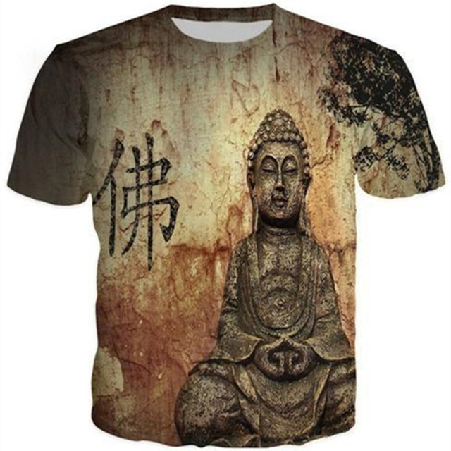 7f4f05ec New Buddha printed 3d t shirt men women t-shirts fashion outfit masculine  short sleeve tshirt streetwear Casual Unisex Tees Tops