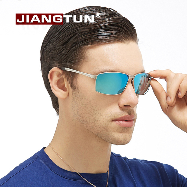 JIANGTUN Aleación Espejo gafas de Sol Polarizadas de Los Hombres Diseñador de la Marca de gafas de Sol de Conducción de Alta Calidad gafas de sol Masculino