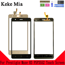 Keke Mia 5.5 Mobile Touch Screen For Prestigio Muze H3 PSP3552 PSP 3552 DUO LCD Glass Replacement Repair Spare Parts