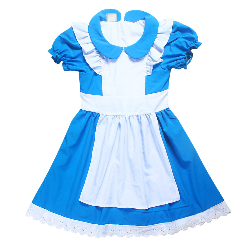 Girl Alice Maid Dresses Princess Children Clothing In Wonderland Cosplay Costume Fancy Party German Dress Birthay Gift For Kid