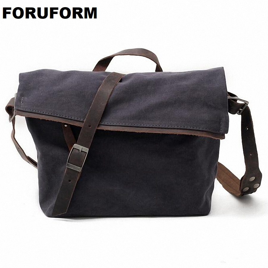 Hot Sell 2018 Men Messenger Bags High Quality mens Travel Bag Male Shoulder Bag Classical Design mens Canvas Bags LI-1831 ...
